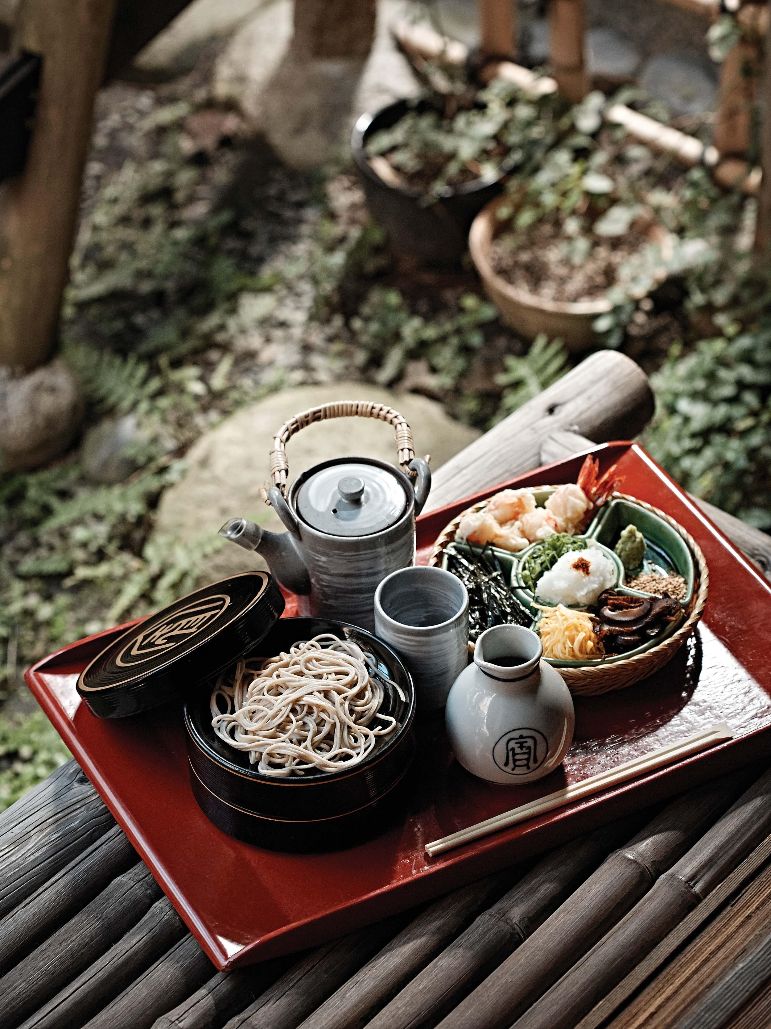 혼케오와리야의 소바. 공기를 넣어 '후루룩' 먹는다 © 김재욱