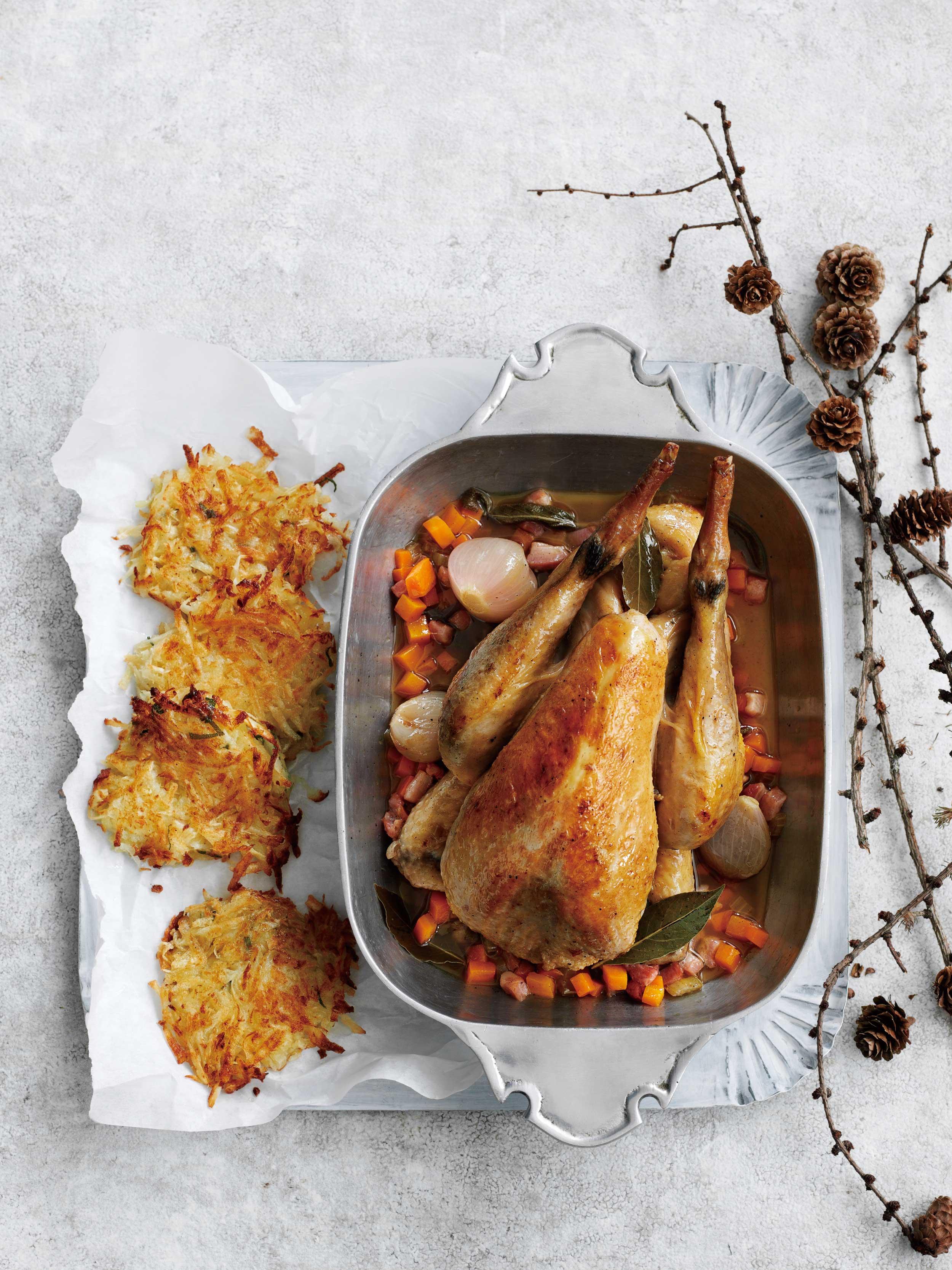 파스닙 로스티와 뿔닭 팟 로스트 © Gareth Morgans