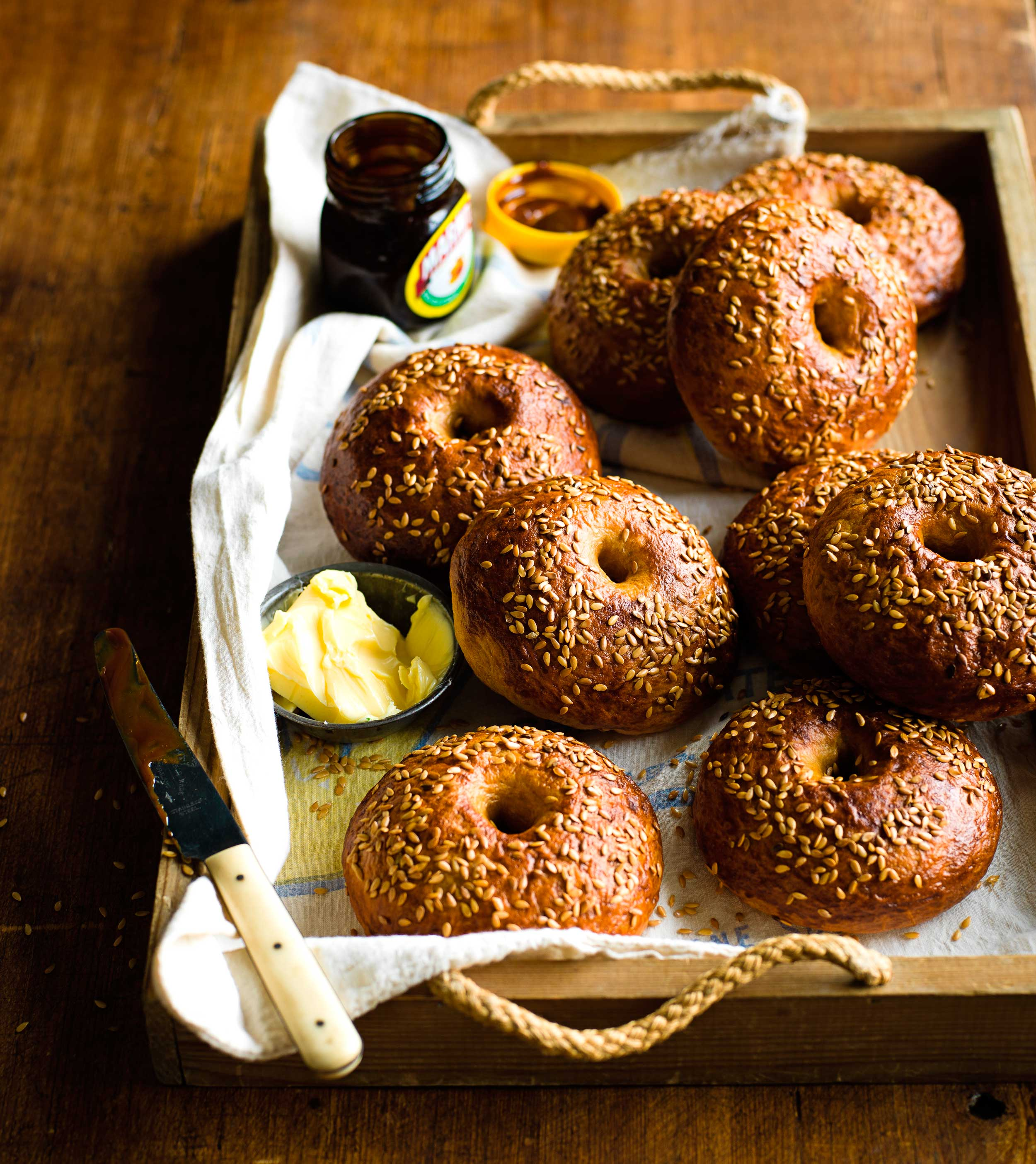 Marmite bagels © Ant Duncan