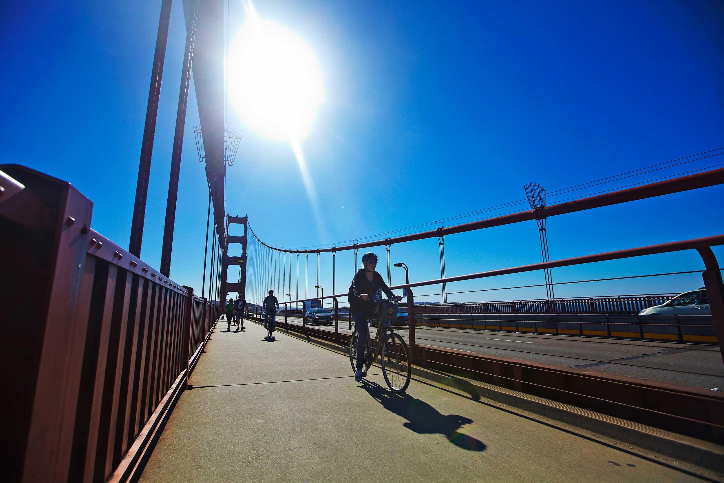 자전거를 타고 시원한 바람을 맞으며 금문교를 건넌 것은 아무리 생각해도 신의 한 수다. © 박정우