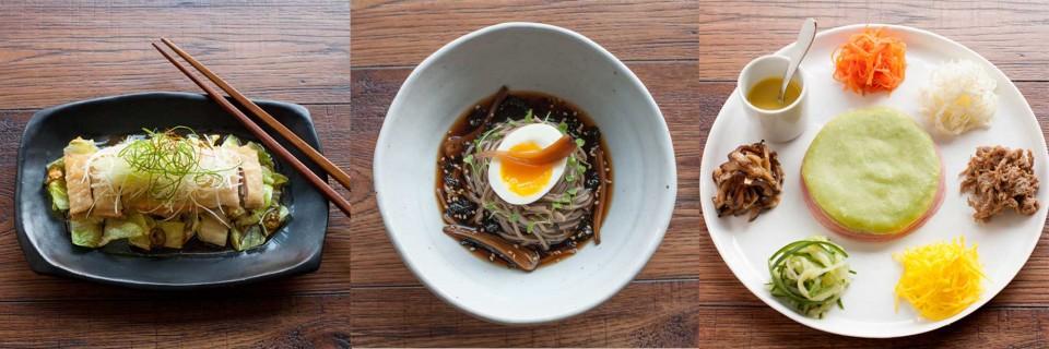 간장소스 닭튀김, 메밀국수, 칠전판 © 오영제
