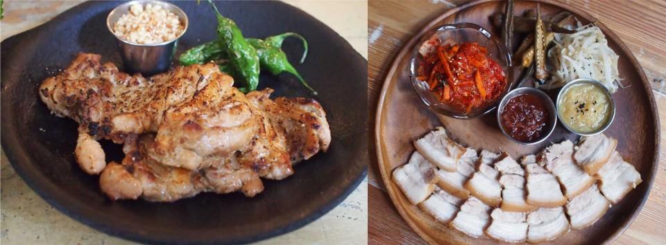 마늘닭허벅살구이, 한보쌈 © 오영제