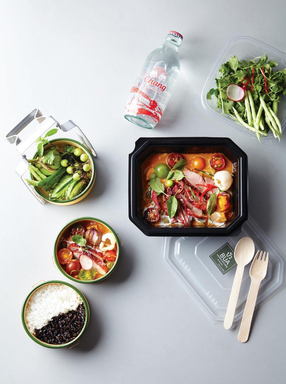갱펫양 도시락(갱펫양, 태국식 쌀밥, 곁들임 채소로 구성) 2만9000원