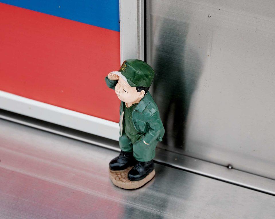 푸드 트럭을 장식하는 소품 중 하나. 군 제대 후 바로 푸드 트럭에 뛰어든 오성학을 상징한다. © 양성모