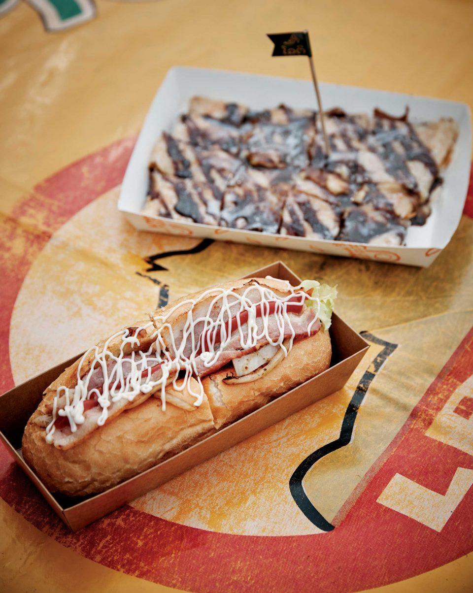 대표 메뉴 라오스샌드위치와 라오스팬케익 각각 6000원, 4000원. 최대한 현지의 맛을 재현했다.  © 양성모
