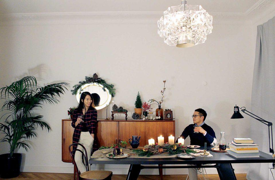 독일 뮌헨에 있는 소니아 김, 토마스 최 부부의 집. 자연에서 얻어온 소재를 활용해 크리스마스 분위기를 연출했다.