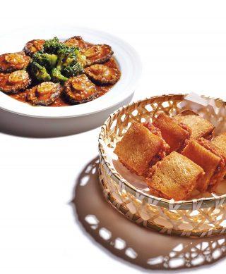 식빵 사이에 새우 다진 것을 넣은 멘보샤. 진진의 최고 인기 메뉴.