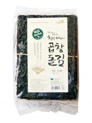 청산바다 햇김 곱창 돌김 100매 1톳, 31,500원