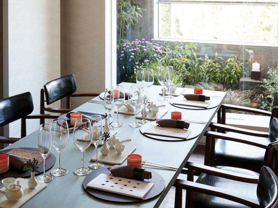 3층 파인다이닝 레스토랑은 모두 개별 룸으로 이루어져 있다.
