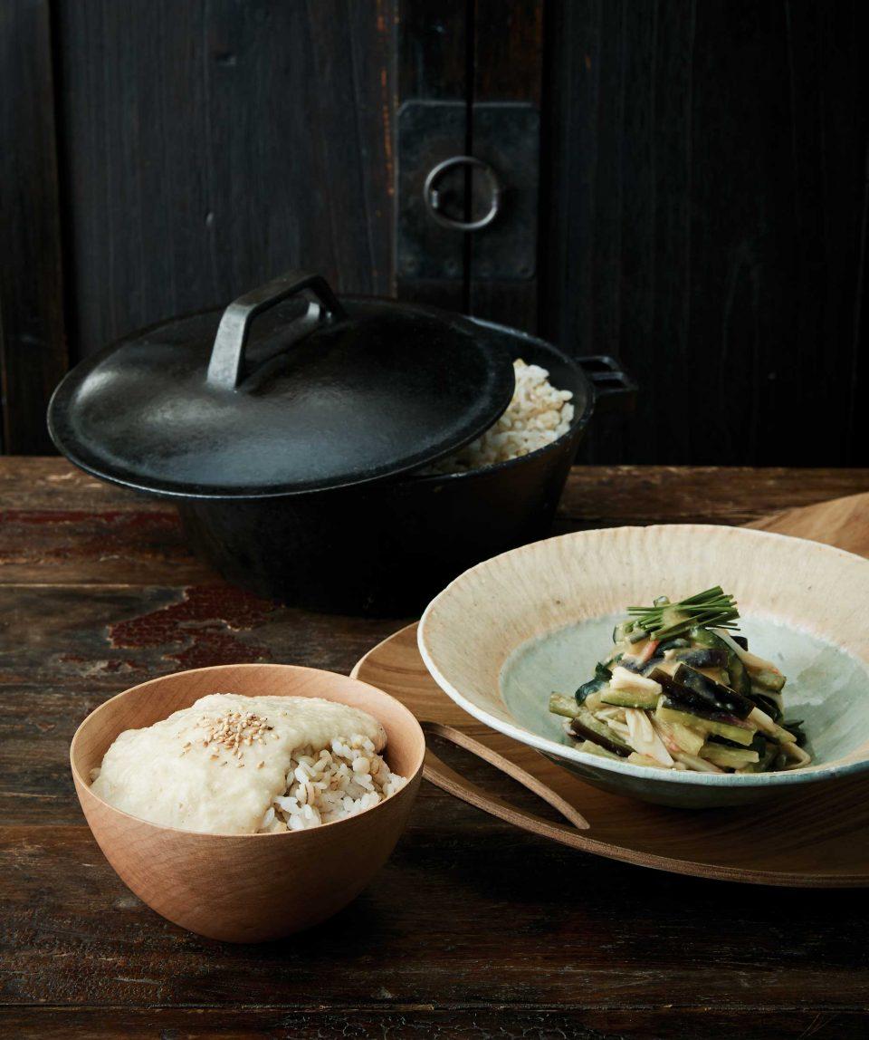보리토로로밥 & 가지스미소무침