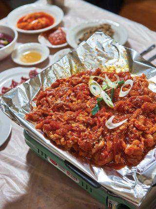 해남에서 통닭 코스 요리를 맛볼 수 있는 원조장수통닭.