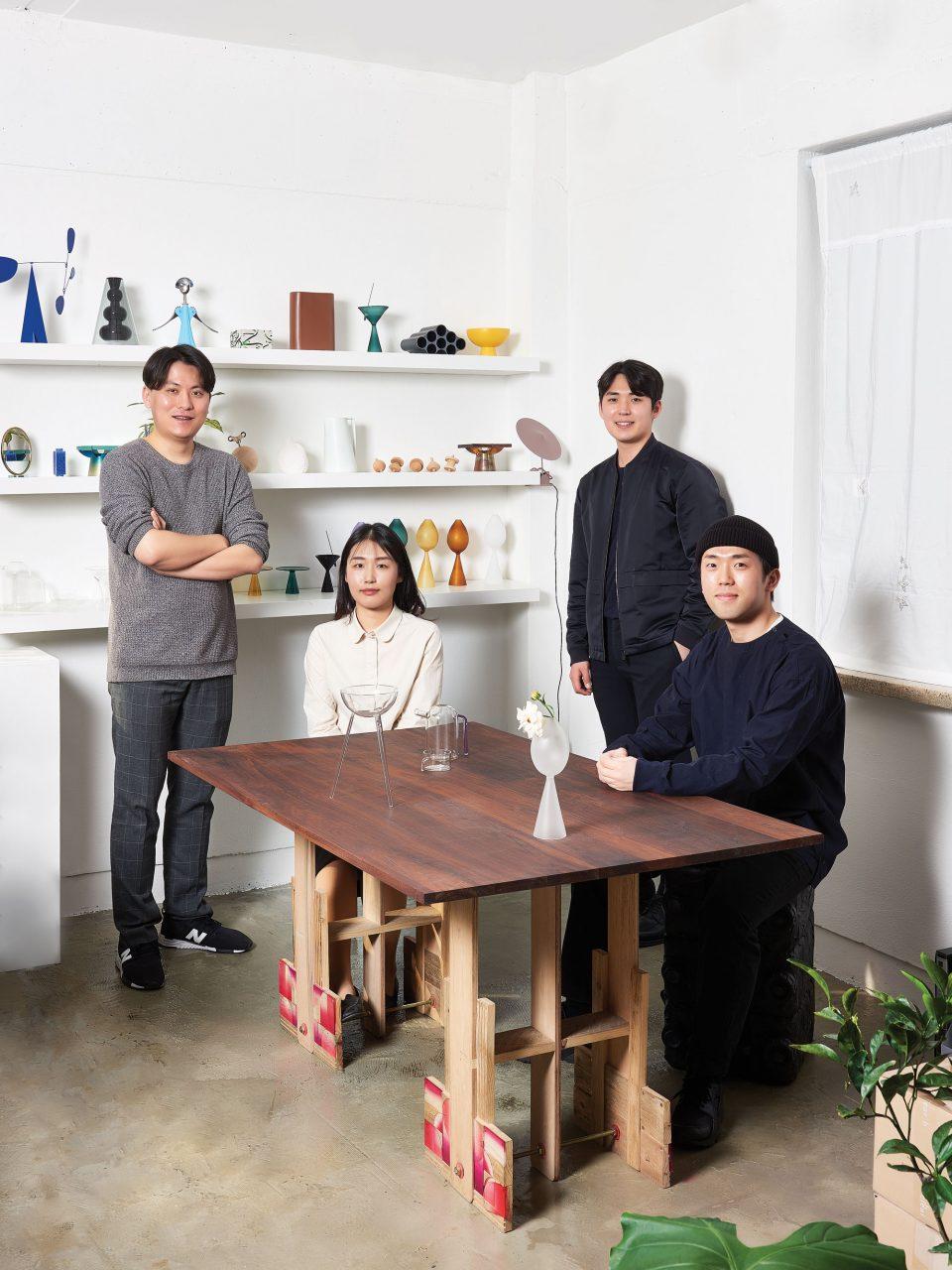 크래프트 콤바인 구성원으로 왼쪽부터 박윤, 김예진, 이기용, 조준익.