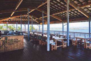 테라자 카페 앤 그릴은 사랑의 절벽에 위치해 최고의 비경을 자랑한다.