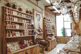 엑상프로방스를 대표하는 과자 칼리송을 판매하는 숍.