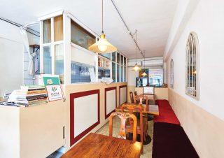 김니노 채소소믈리에가 운영 중인 레스토랑 소노의 실내 인테리어, 편안한 분위기가 물씬 풍긴다.