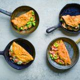 4 omelettes